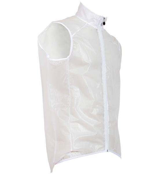 Mantellina senza maniche trasparente