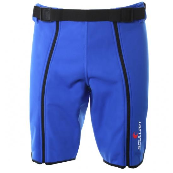 Panta coprituta corta da sci alpino colore blu