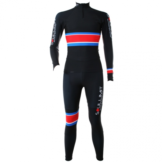 Tuta da sci nordico Long Distance longa nero