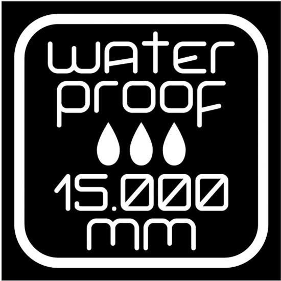 WATERPROOF (impermeabilità) 15000 mm